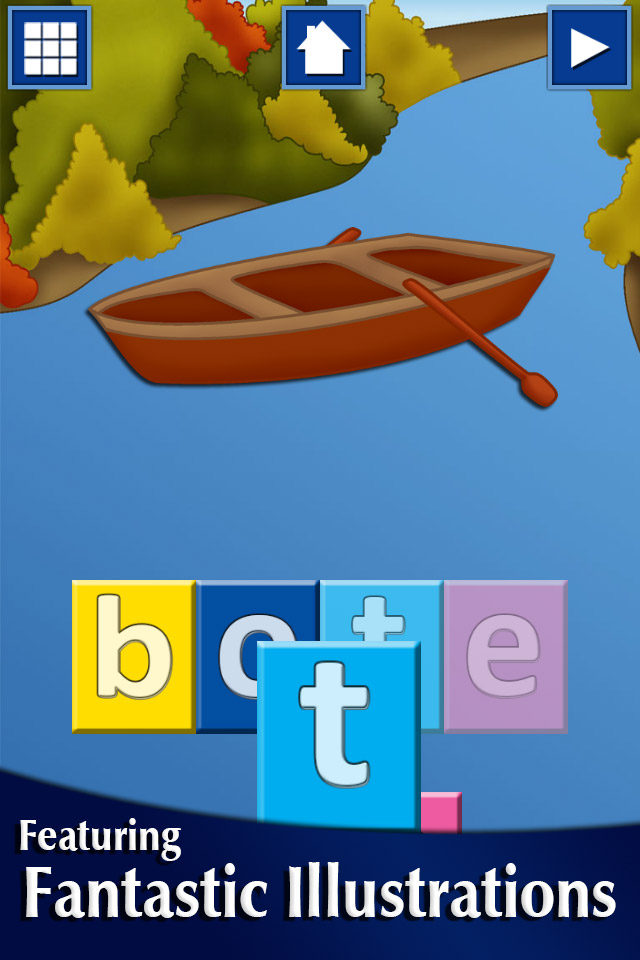 Screenshot First Spanish Words with Phonics Lite